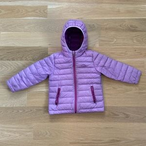 LL Bean Toddler Girls Down Hooded Coat Size 4T